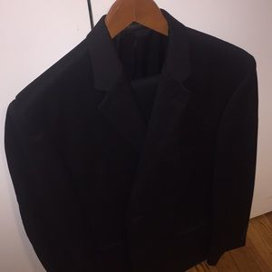 Black Calvin Klein Suit (Jacket and Pants)
